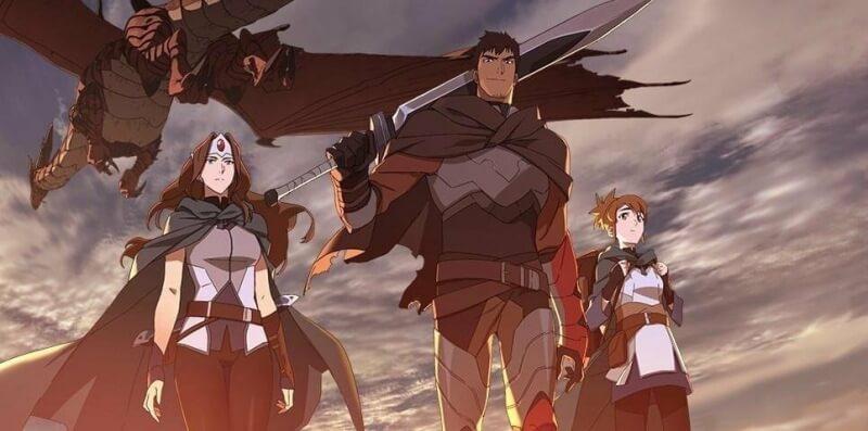 Сериал Дота Кровь дракона постер